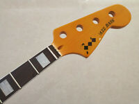 Yellow Four-string JAZZ BASS neck, rosewood fingerboard maple electric BASS neck