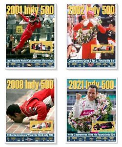 4-TIME INDY 500 WINNER HELIO CASTRONEVES COMMEMORATIVE POSTER SET