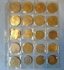 Gaming Gambling CasinoTokens Metal One Dollar Half Dollar Lot of 20 Chips Coins