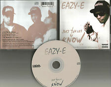 EAZY E Just Tah let U know LIMITD w/ 2 RARE MIXES USA 1995 CD single N.W.A. easy