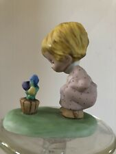 "Vintage1979 Betsey Clark Figurine ""Girl with Flowers"" Hallmark Little Gallery"