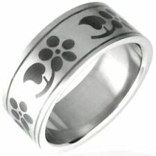 Stainless Steel Flowers & Plants Fashion Rings