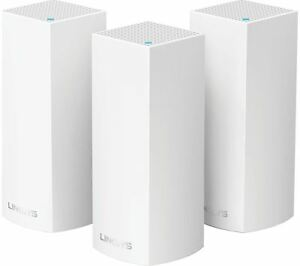 Linksys WHW0303-UK Velop Tri-Band AC6600 Whole Home Wi-Fi Mesh System Pack of 3