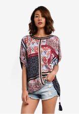 Desigual Women's boho short sleeve casual Bobbie shirt -size L