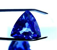 GGL Certified  8.55 CT Trillion Cut Natural Blue Sapphire Loose Gemstone