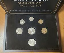 More details for 2015 royal australia mint, anniversary prestige 7 coin set with wooden case/coa