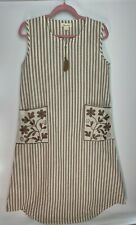 Sweet Candy Ladies Dress Size M / 12 Natural Beige Striped Boho Chic