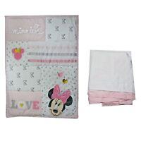 Disney Minnie Mouse 2 Piece Baby Crib Bedding Set - Rare - See details