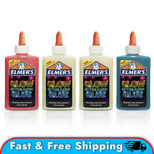 Elmer's Glow-in-the-Dark Liquid Glue, Assorted Colors, 5oz 4 Pack Slime Making