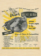 Vintage & Rare 1959 West Bend Series 510 Go-Kart Engine Ad