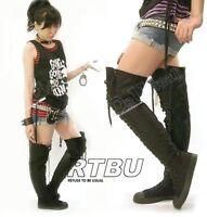 RTBU EXOTIC 35-HOLE THIGH-HI DANCER boots US 9 9.5 (40)