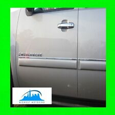 2007-2013 CHEVY CHEVROLET AVALANCHE CHROME SIDE DOOR TRIM MOLDINGS 4PC W/WRNTY