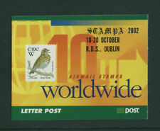 BIRDS   2002 IRELAND  DX225a  STAMPA  MEMBERS  BIRDS BOOKLET - SCARCE