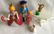 3 X Playmobil Figures - Queen, King & Princess & Accessories