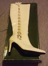 NWT WINTER WHITE SIDE LACE UP DRESS BOOTS sz 11