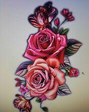 Waterproof Temporary Tattoo Sticker Body Art Women Roses