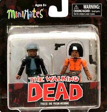 THE Walking Dead Serie 5 MINIMATES tyreese e prigione Michonne NUOVO
