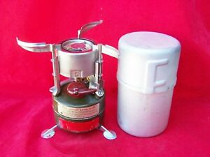 1966 Rogers M-1950 US Military Camp Stove With Case & Spare Parts Tested Good