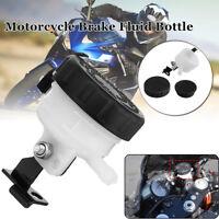 Motorcycle Brake Reservoir Front Fluid Bottle Oil Cup Tank w/ Master Cylinder