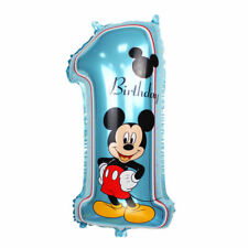 Mickey Minnie Mouse Blue Pink 1st Birthday Number 1 Foil Balloon self inflating