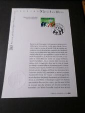 FRANCE 2006 NOTICE DOCUMENT FDC timbre 3936, FOOTBALL MERCI LES BLEUS, 1° JOUR
