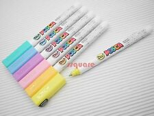 6 x Uni-Ball POSCA Extra Fine 0.7mm Water Based Sign Pen, Pastel Colors Set