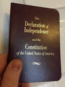 LARGE PRINT Pocket Size United States Declaration Of Independence & Constitution