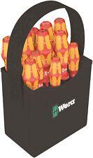WERA 2Go 11 Piece VDE Kraftform 100 Insulated Screwdriver Set & Quiver, 004310