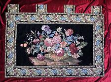 Tapiz Tapicería Black Tapicería paraíso de flores flor ciniglia 140x100