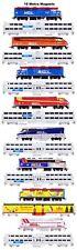 Metra Commuter Trains 16 magnets Andy Fletcher
