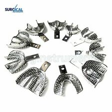 10 Dental Impression Trays Perforated Endo Instruments