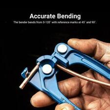 "1/8 3/16 1/4"" Tube Bender Tubing Fuel Brake AC Refrigerant Bending Line X3M9"