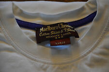 MARLBORO CLASSICS- Joli tee-shirt blanc manches longues homme -  taille L-