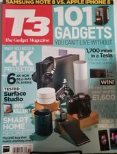 T3 The Gadget Magazine Oct 2017 UK 101 Gadgets Can't Live Without FREE SHIPPING