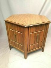 Mersman Mid Century Hexagonal Brutalist Style End Table Nightstand Made In USA