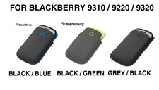 BlackBerry Curve 9320 Black / Grey Black / Blue / Green Microfibre Pocket Pouch
