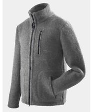 Mufflon Klaas, Woollen Cardigan for Men, Merino Wool, Grey - Grey