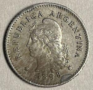 1898 10 CENTAVOS ARGENTINA COIN                     2020-0061