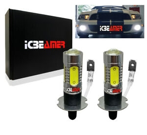 x2 LED H3 11W DRL Fog Light Powerful Xenon Super White bulbs Lamp D654