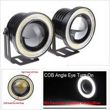 "30W 2.5"" Projector COB LED Fog Light Car Halo Angel Eyes Rings DRL For Corvette"