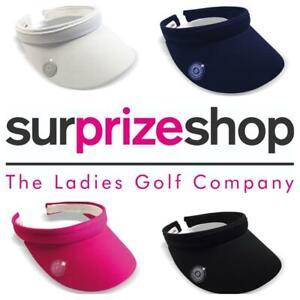 New 2021 Surprizeshop Ladies Clip Golf Sun Visor -  Pink Navy White Black.