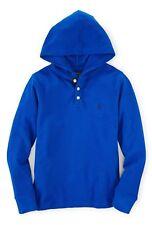 Polo Ralph Lauren - Mens Mesh Hooded Long Sleeve Shirt (XL) NWT Blue Hoodie