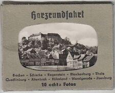 (F201+) Original Foto 1957 Harzrundfahrt, 9 Fotos im Mäppchen (eins fehlt)