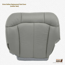 2001 2002 GMC Sierra 2500HD Driver Bottom Leather Replacement Seat Cover GRAY