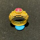 Ancient Gold ring from south east Asia with beautiful Ruby light stone