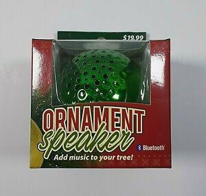 Solaray Green Ornament Bluetooth 4.2 Wireless Speaker Christmas Tree Decor