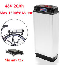 48V 20Ah 1500W Rear Rack Carrier E-bike Li-oin Battery Electric Bicycle+Charger