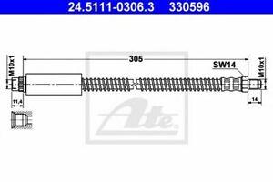 Flexible de frein PEUGEOT 206  (2A/C) 206  206 CC (2D) 206 SW (2E/K) 206+ (T3E)