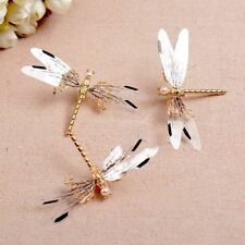Dragonfly Hair Clip Pearl Bride Bridal Headdress Hairpins Wedding Jewelry NEW FT