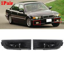 Pair Front Bumper Fog Light Lamp Lens For BMW E38 7-Series 1995-2001 740i 750iL